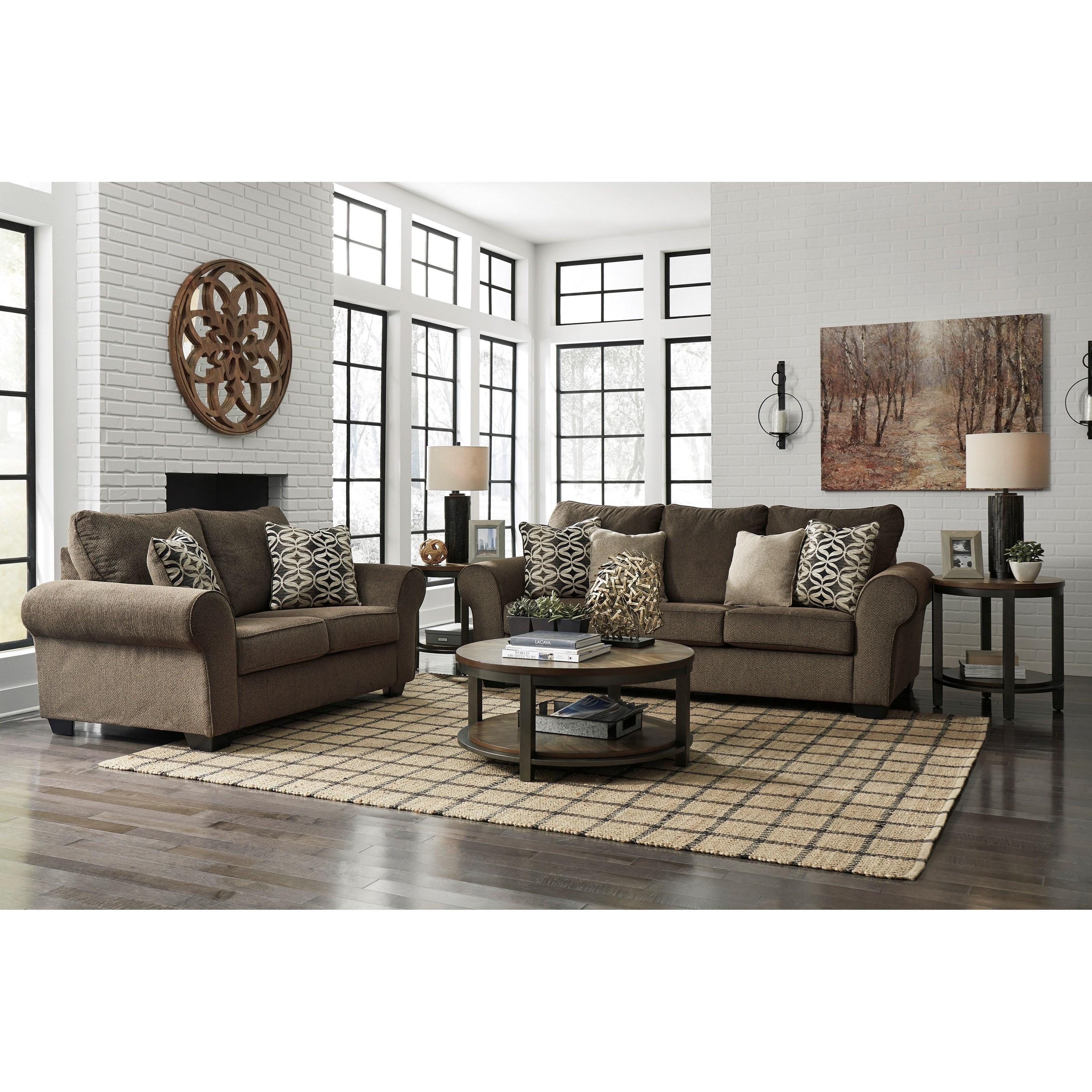 Living Room Sets Houston: Benchcraft Nesso Stationary Living Room Group
