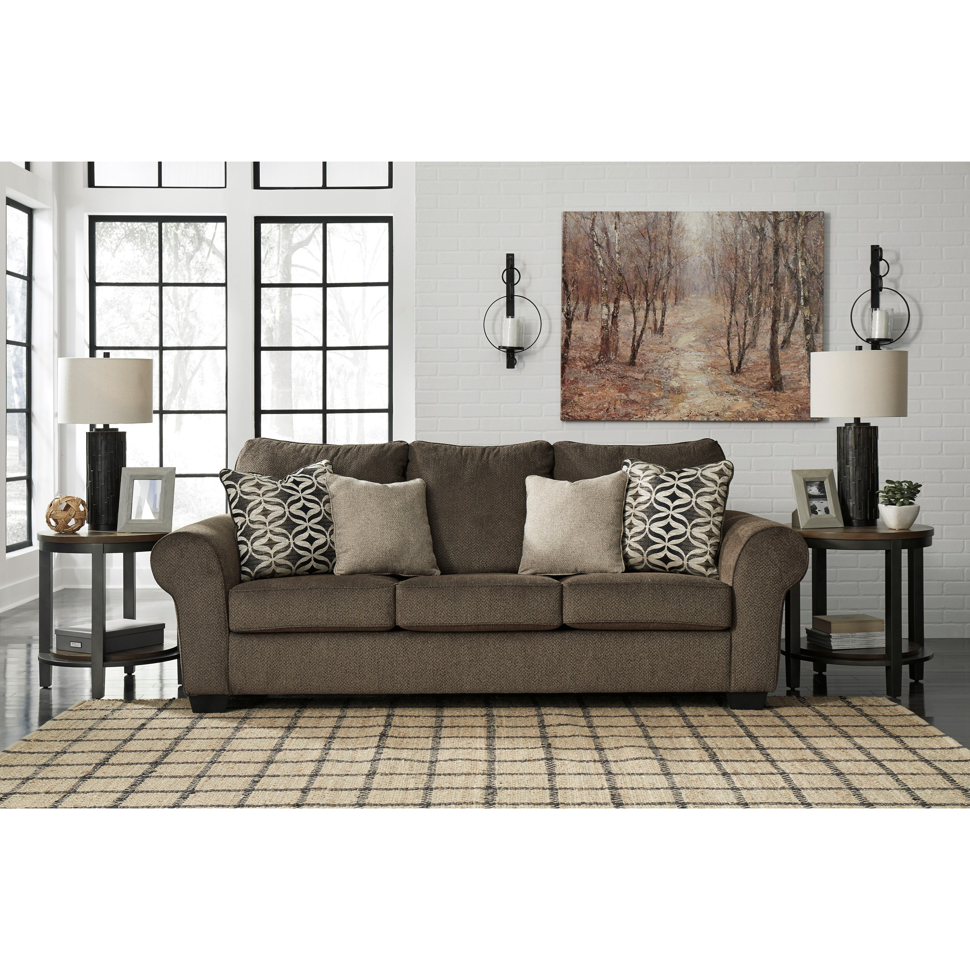 Signature Design By Ashley Nesso Sofa With Rolled Arms