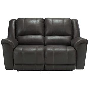 Benchcraft Jackson Grey Reclining Loveseat