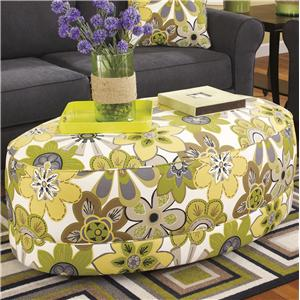 Benchcraft Nolana Accents - Citron Oversized Accent Ottoman