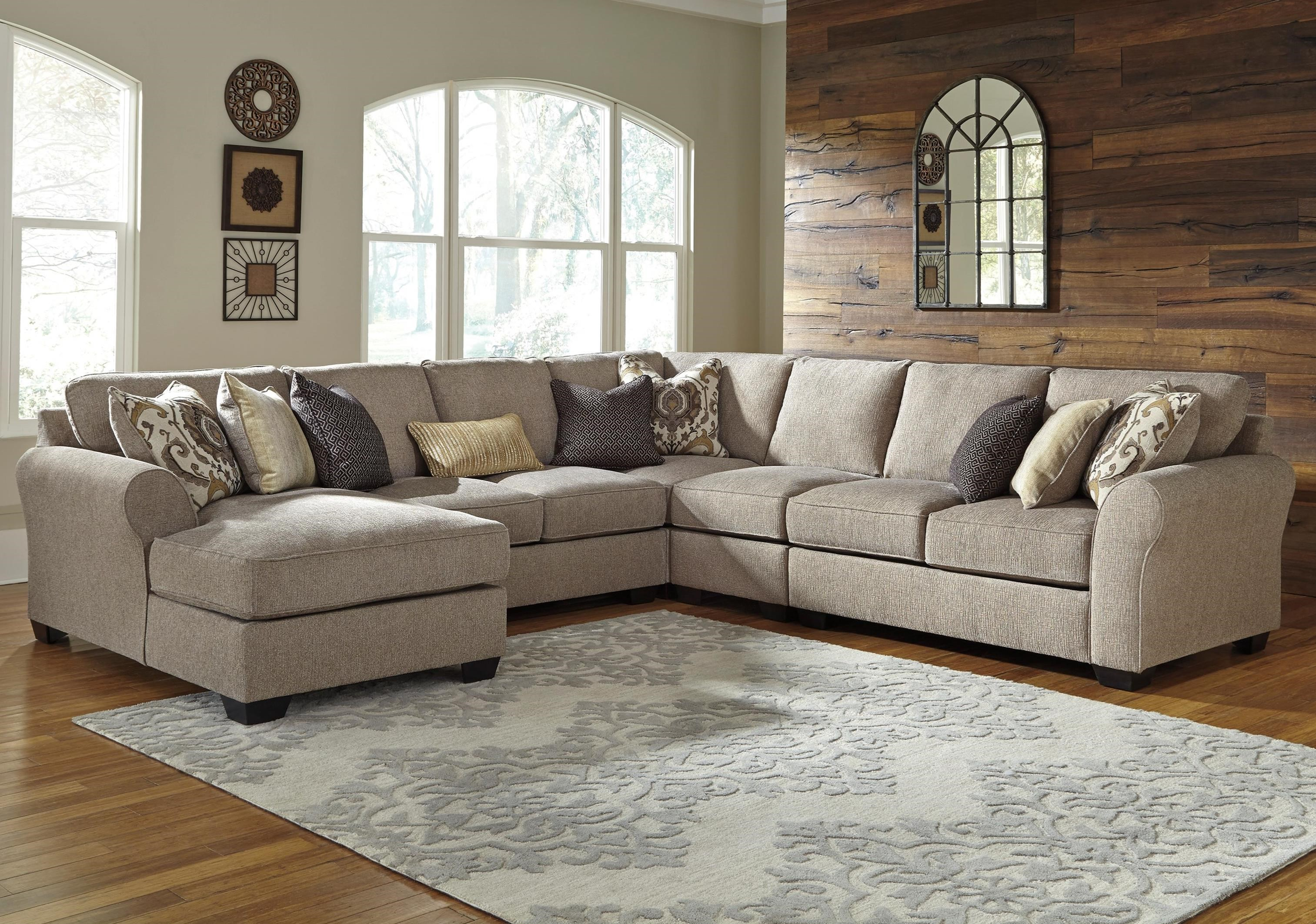 Benchcraft Pantomine 5-Piece Sectional with Left Chaise - Item Number: 3910216+34+77+46+56