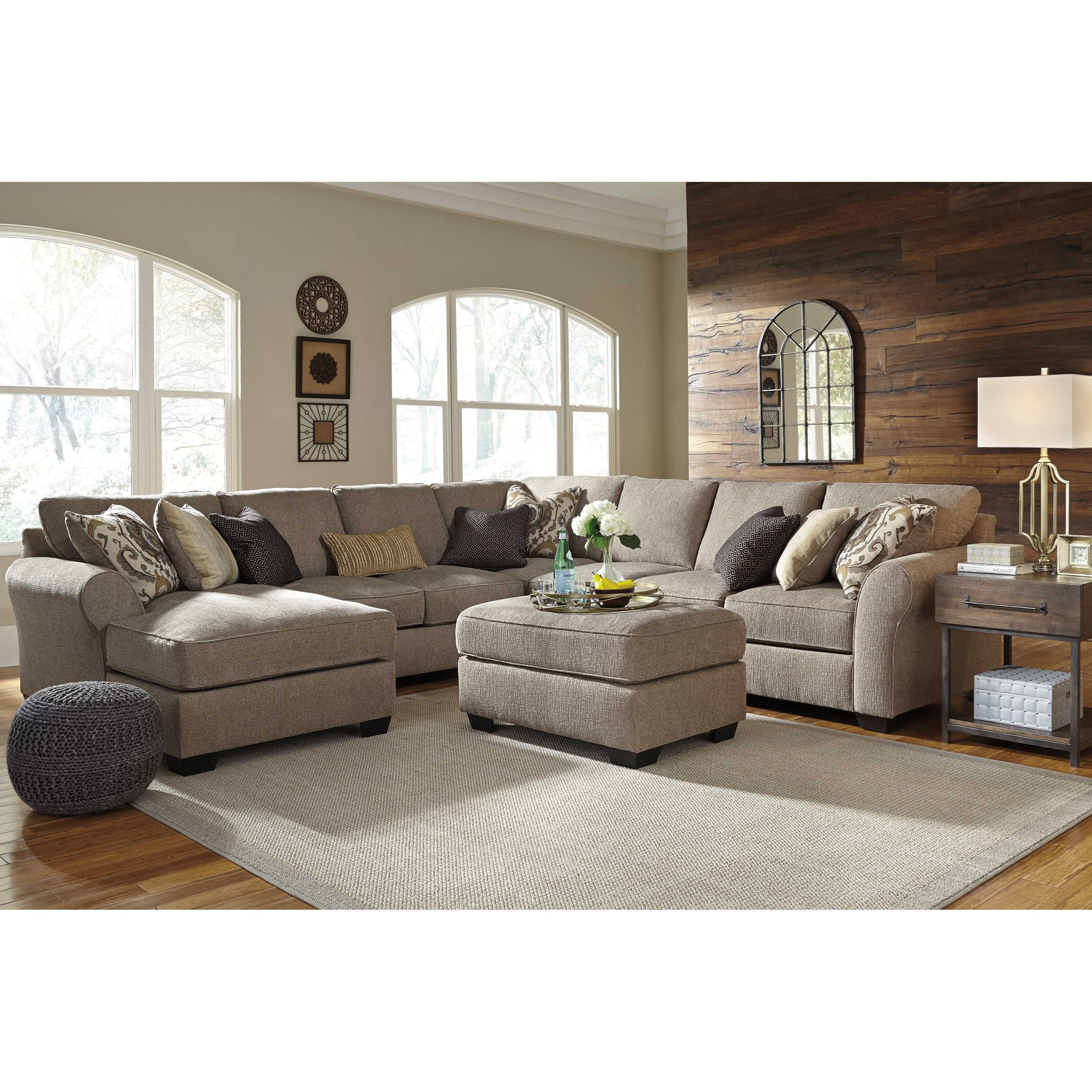 2 piece living room furniture signature design by pantomine 5 sectional 20985