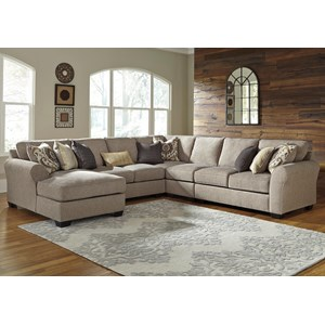 Ashley/Benchcraft Pantomine 5-Piece Sectional with Left Chaise