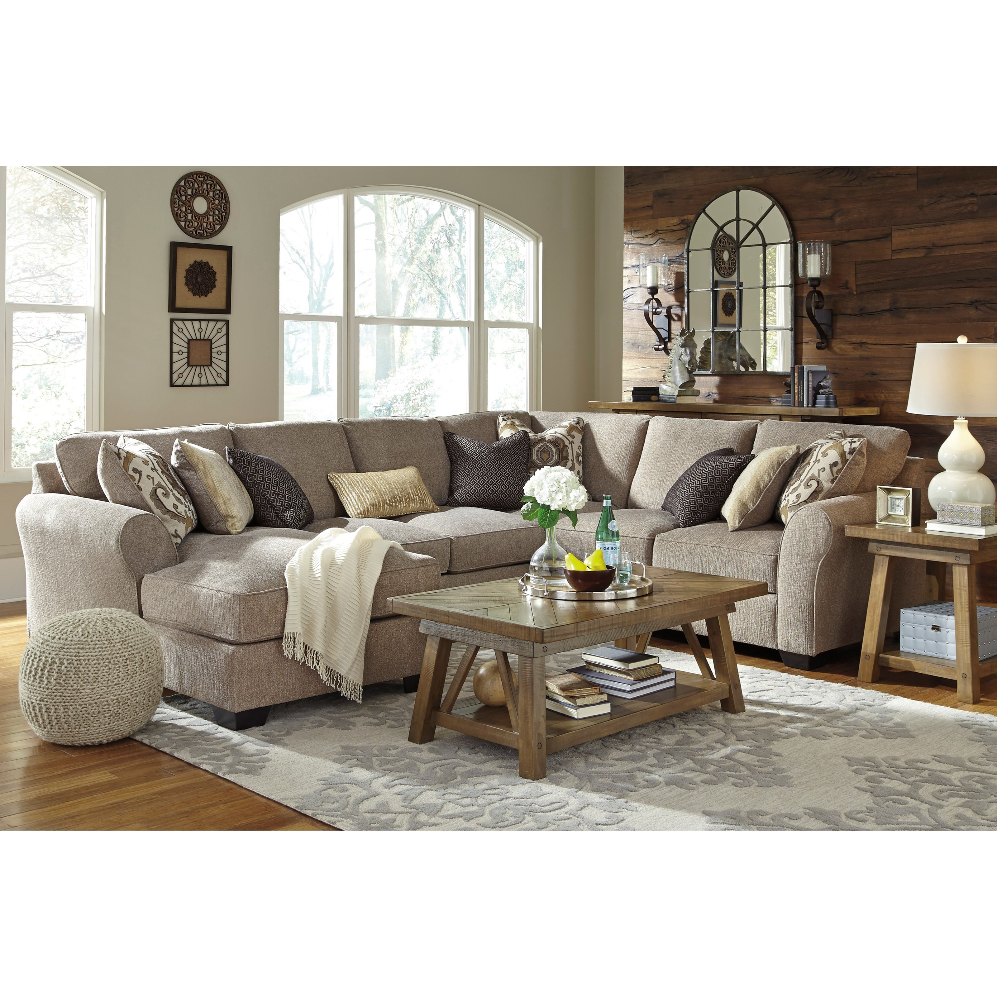 Benchcraft pantomine 4 piece sectional with left chaise for 4 piece sectional with chaise