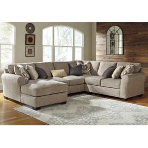 Benchcraft Pantomine 4-Piece Sectional with Left Chaise