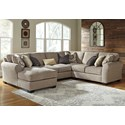 Benchcraft Pantomine 4-Piece Sectional with Left Chaise - Item Number: 3910216+34+77+56