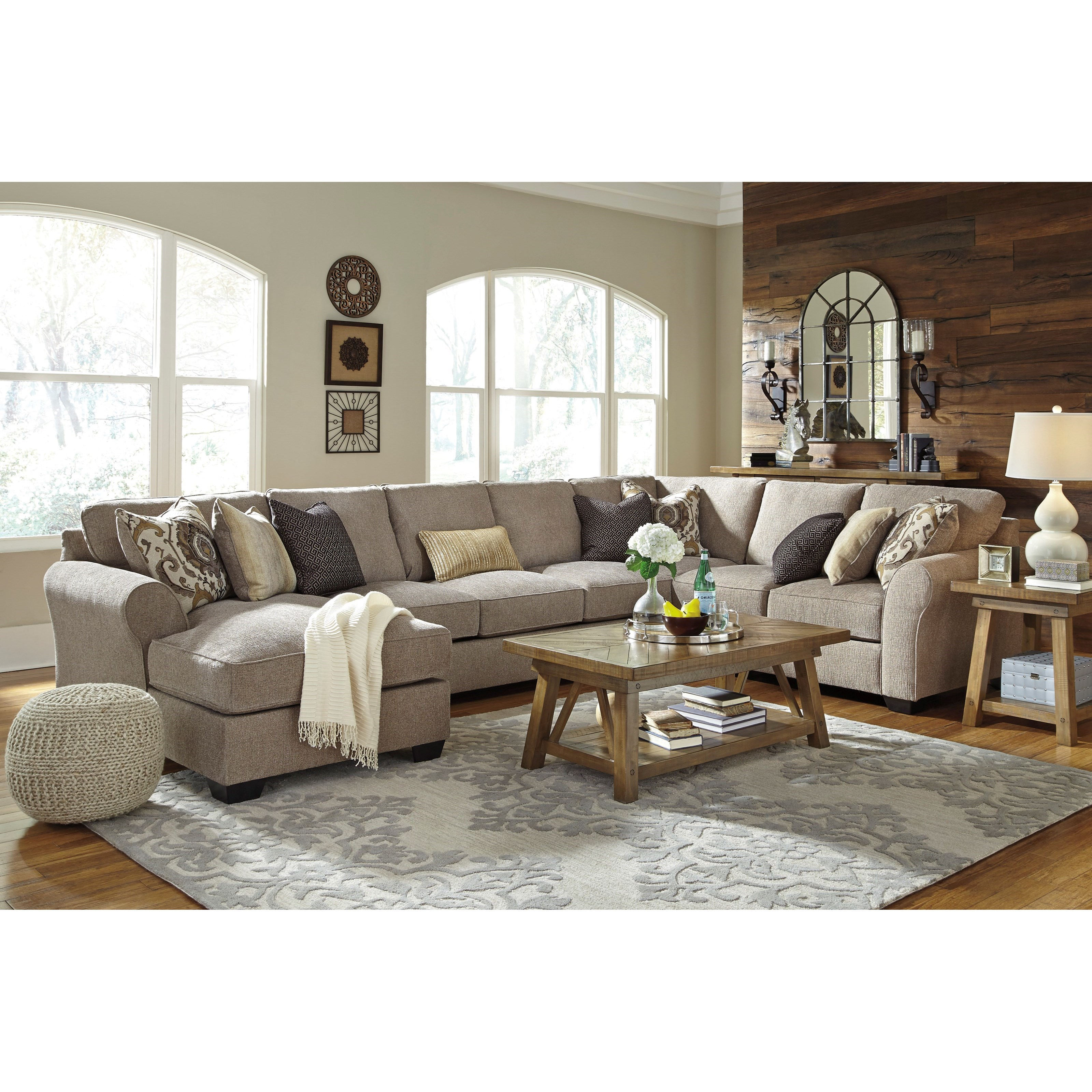 Benchcraft pantomine 4 piece sectional w left chaise for 4 piece sectional with chaise