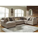 Benchcraft Pantomine 4 Piece Sectional W Left Chaise