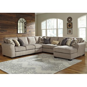 Ashley/Benchcraft Pantomine 5-Piece Sectional with Right Chaise
