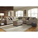 Ashley Pantomine 5-Piece Sectional with Right Cuddler