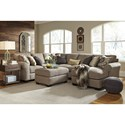 Benchcraft Pantomine 4-Piece Sectional with Right Chaise