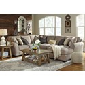 Ashley/Benchcraft Pantomine 4-Piece Sectional with Right Chaise