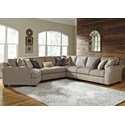 Benchcraft Pantomine 5-Piece Sectional with Left Cuddler - Item Number: 3910276+34+77+46+56