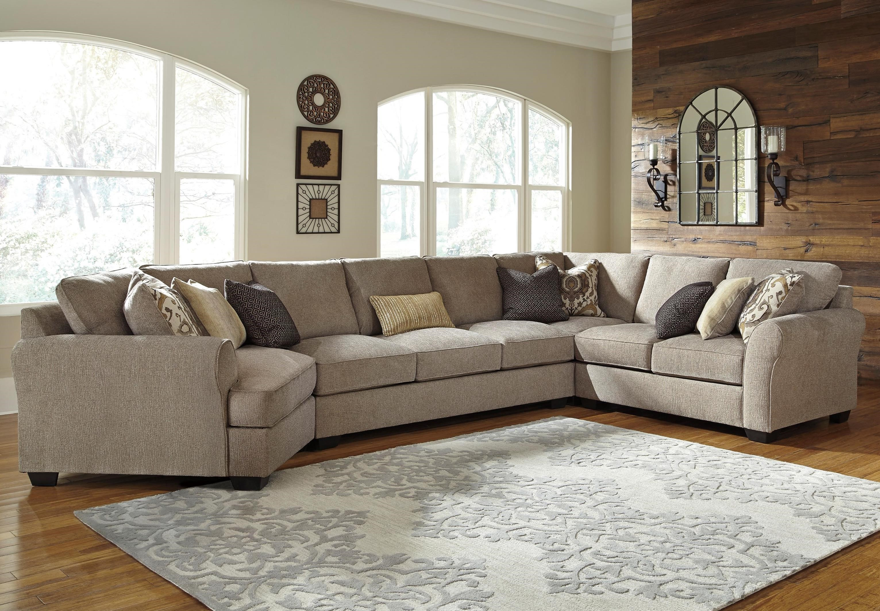 Benchcraft Pantomine 4 Piece Sectional with Left Cuddler & Armless
