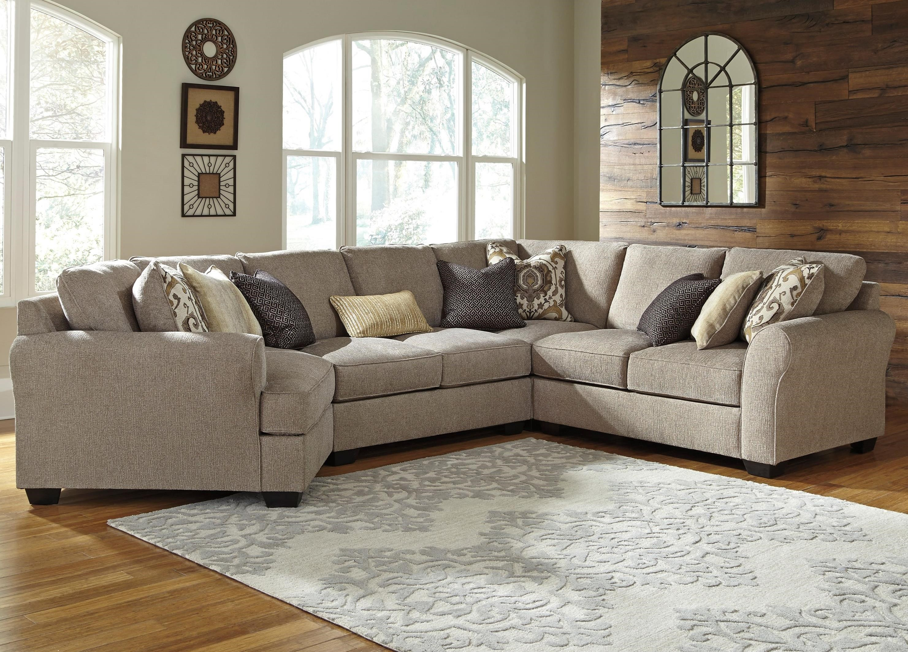 4-Piece Sectional with Left Cuddler