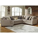 Benchcraft by Ashley Pantomine 4-Piece Sectional with Cuddler - Item Number: 39122S11
