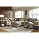 Benchcraft by Ashley Pantomine 4-Piece Sectional with Ottoman - Item Number: PKG010951