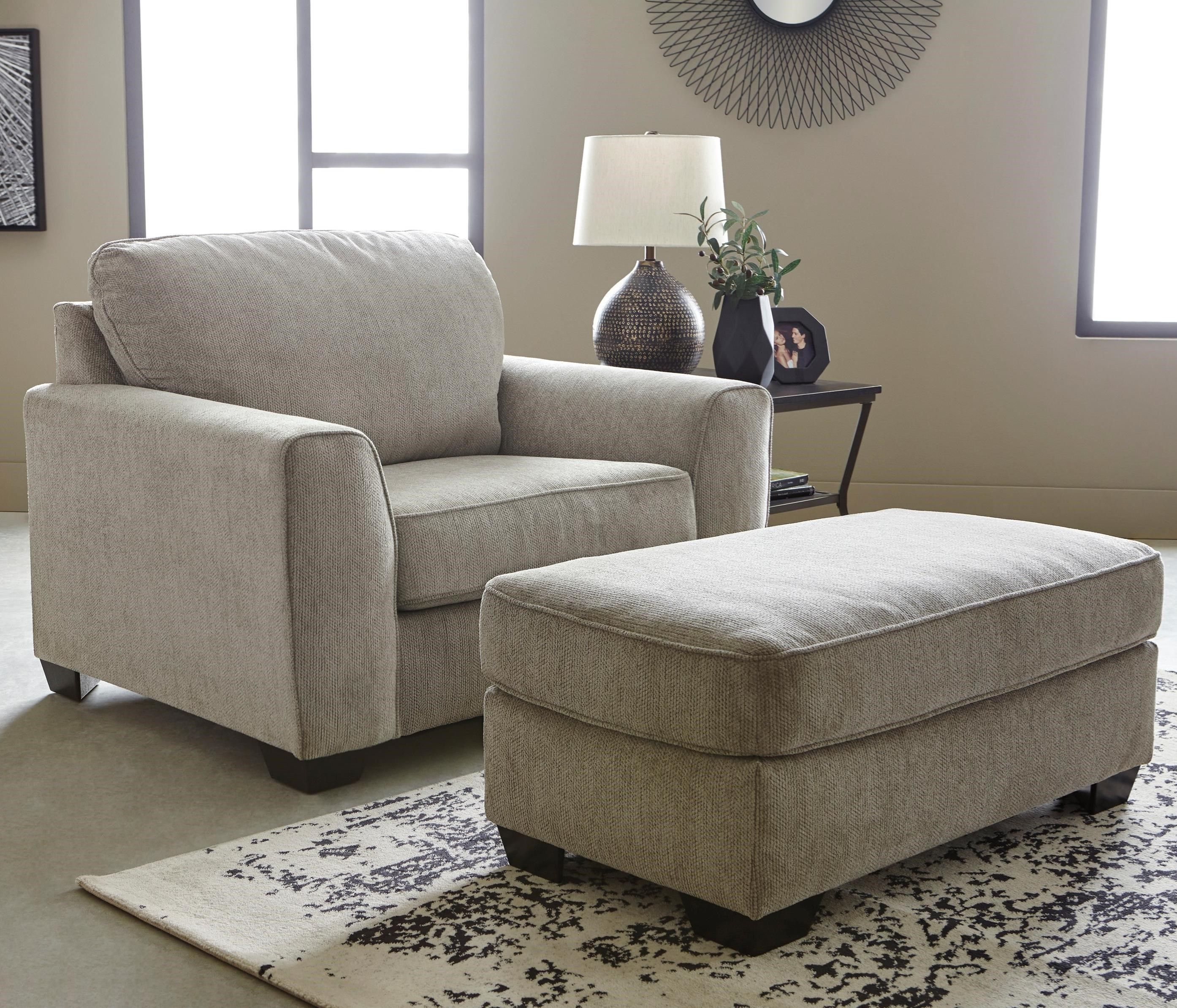 Chair and 1/2 & Ottoman Set