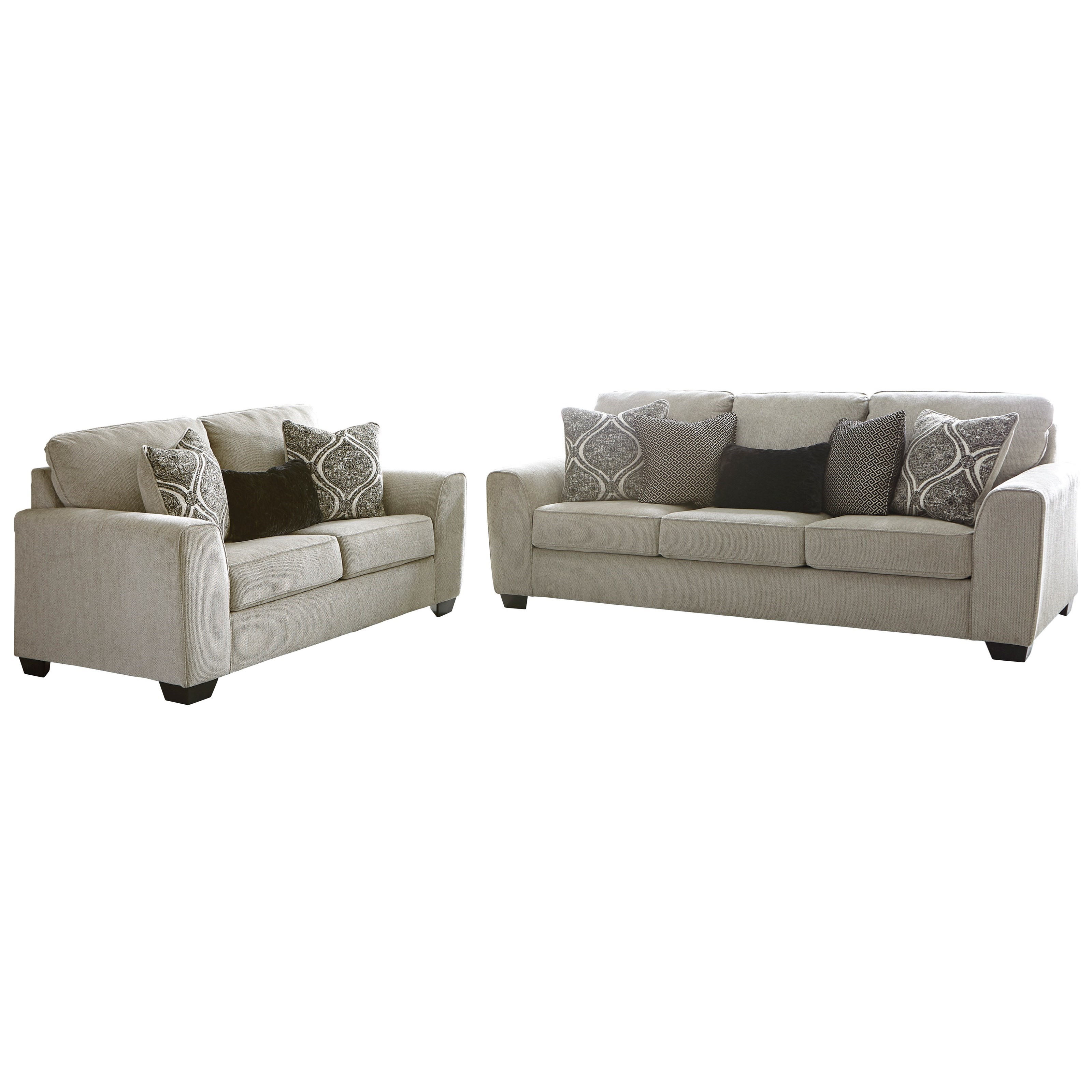 Benchcraft Parlston Contemporary Sofa With Five Toss