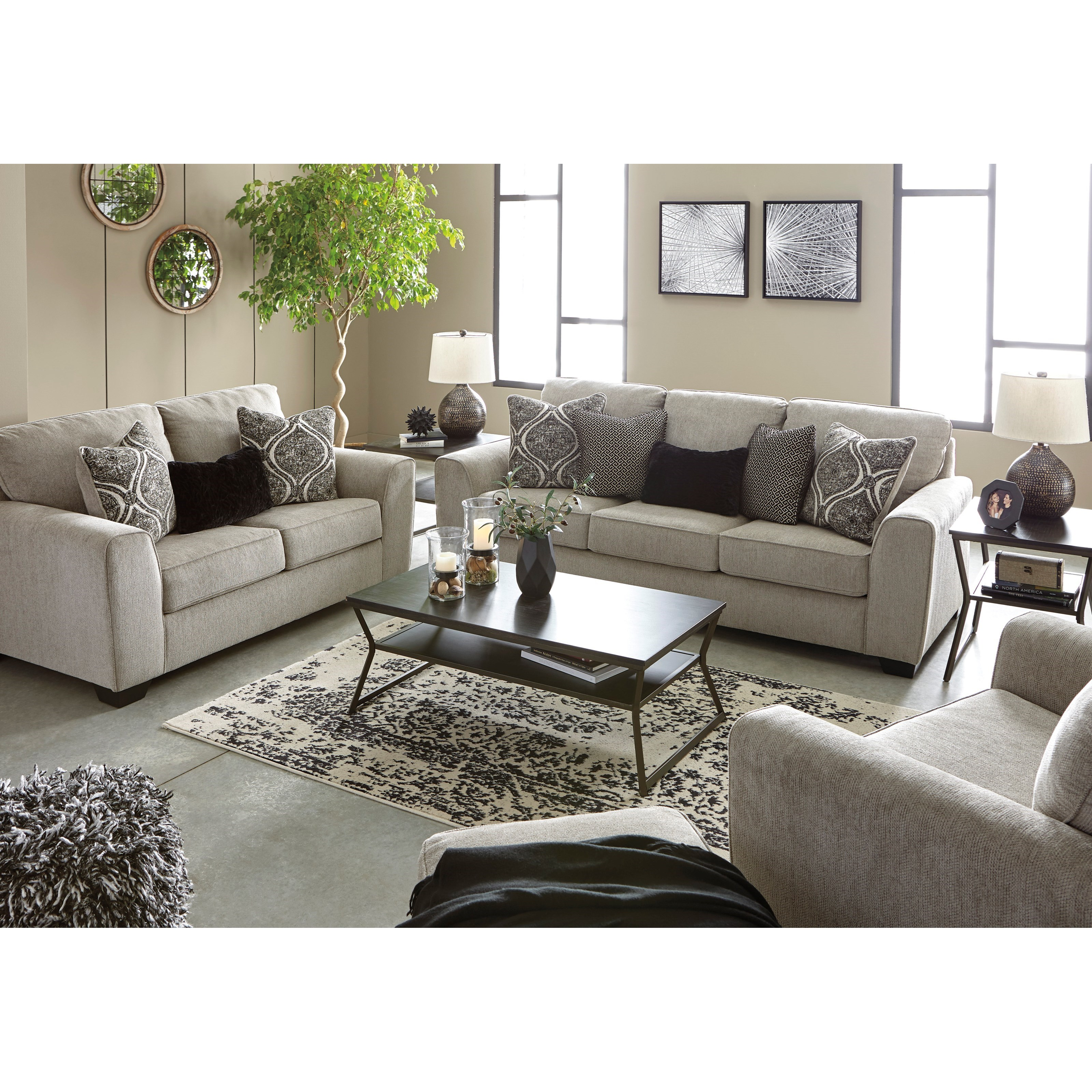 Benchcraft Parlston Contemporary Queen Sleeper Sofa With