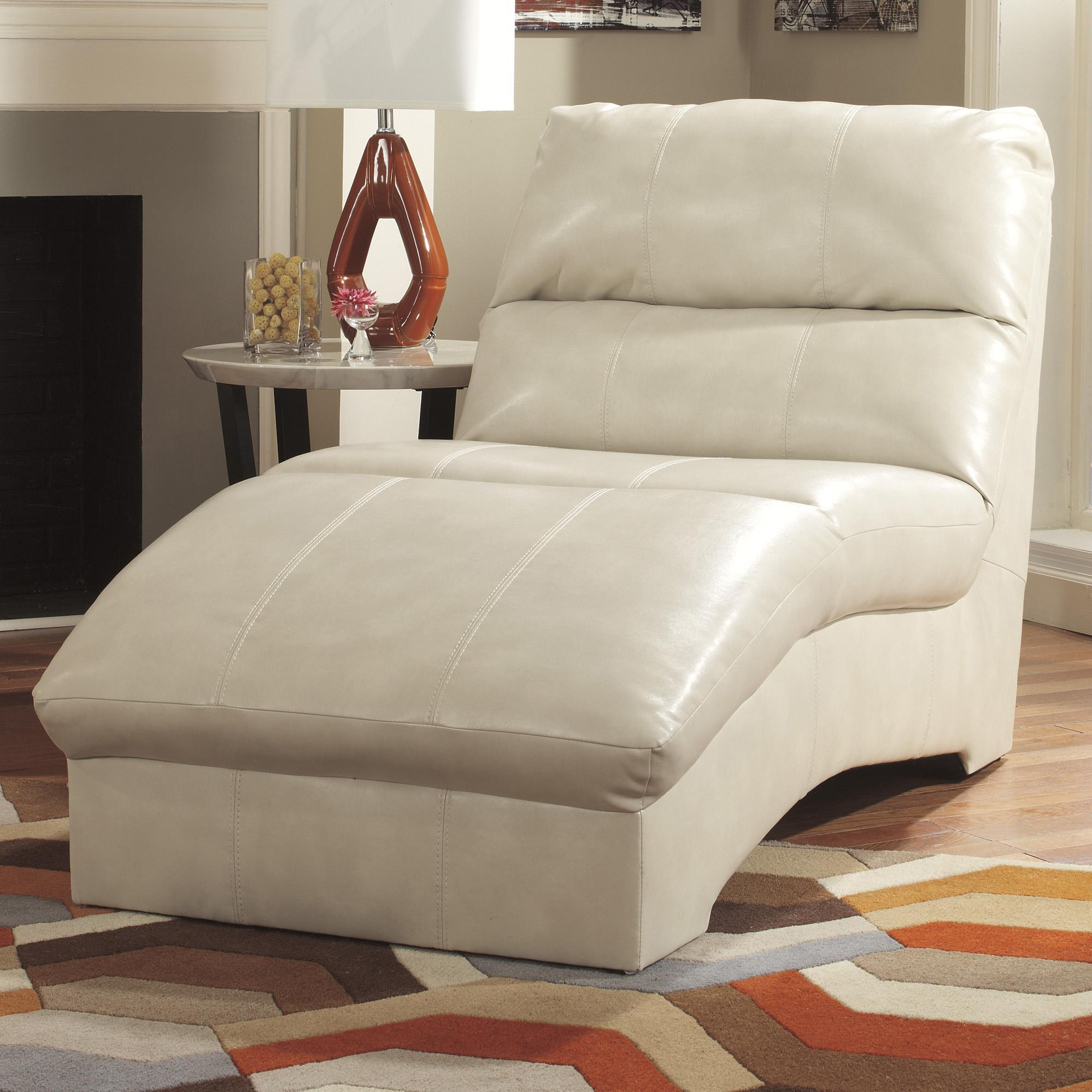 Benchcraft Paulie DuraBlend® - Taupe Chaise - Item Number: 2700015