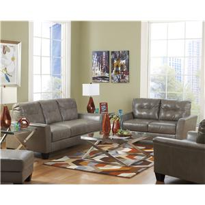 Ashley Paulie DuraBlend® - Quarry Stationary Living Room Group