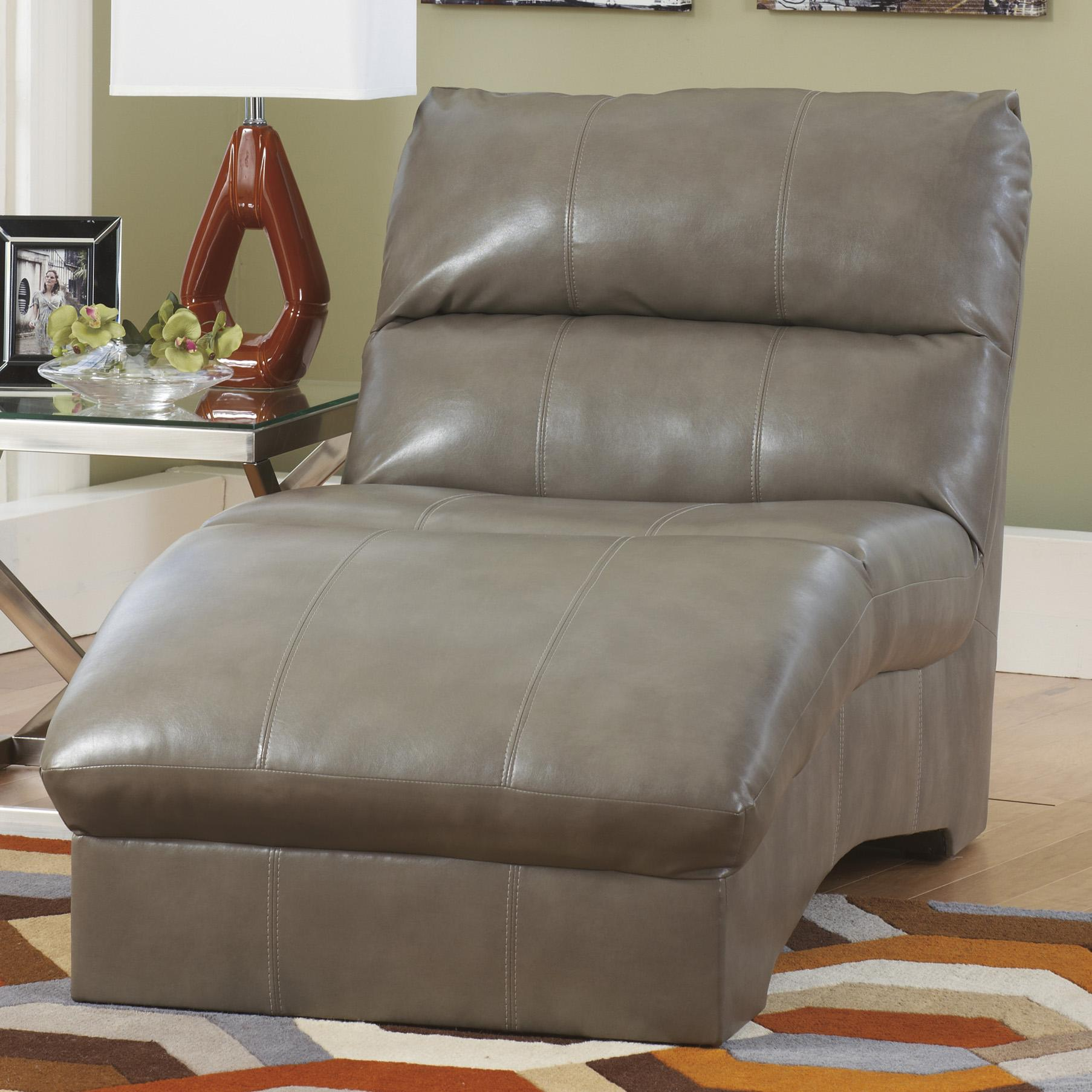 Benchcraft Paulie DuraBlend® - Quarry Chaise - Item Number: 2700115