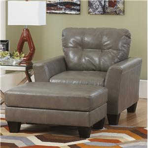 Ashley Paulie DuraBlend® - Quarry Chair and Ottoman Set