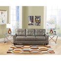 Ashley Paulie DuraBlend® - Quarry Contemporary Sofa with Tufted Detailing