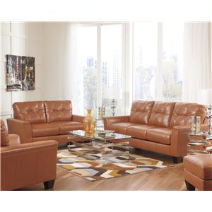 Ashley Paulie DuraBlend® - Orange Stationary Living Room Group