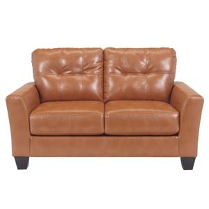 Ashley Paulie DuraBlend® - Orange Loveseat