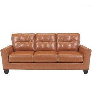 Benchcraft Paulie DuraBlend® - Orange Sofa