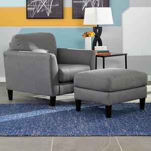 Benchcraft Pelsor Chair & Ottoman