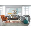 Benchcraft Pelsor Mid-Century Wing Back Accent Chair