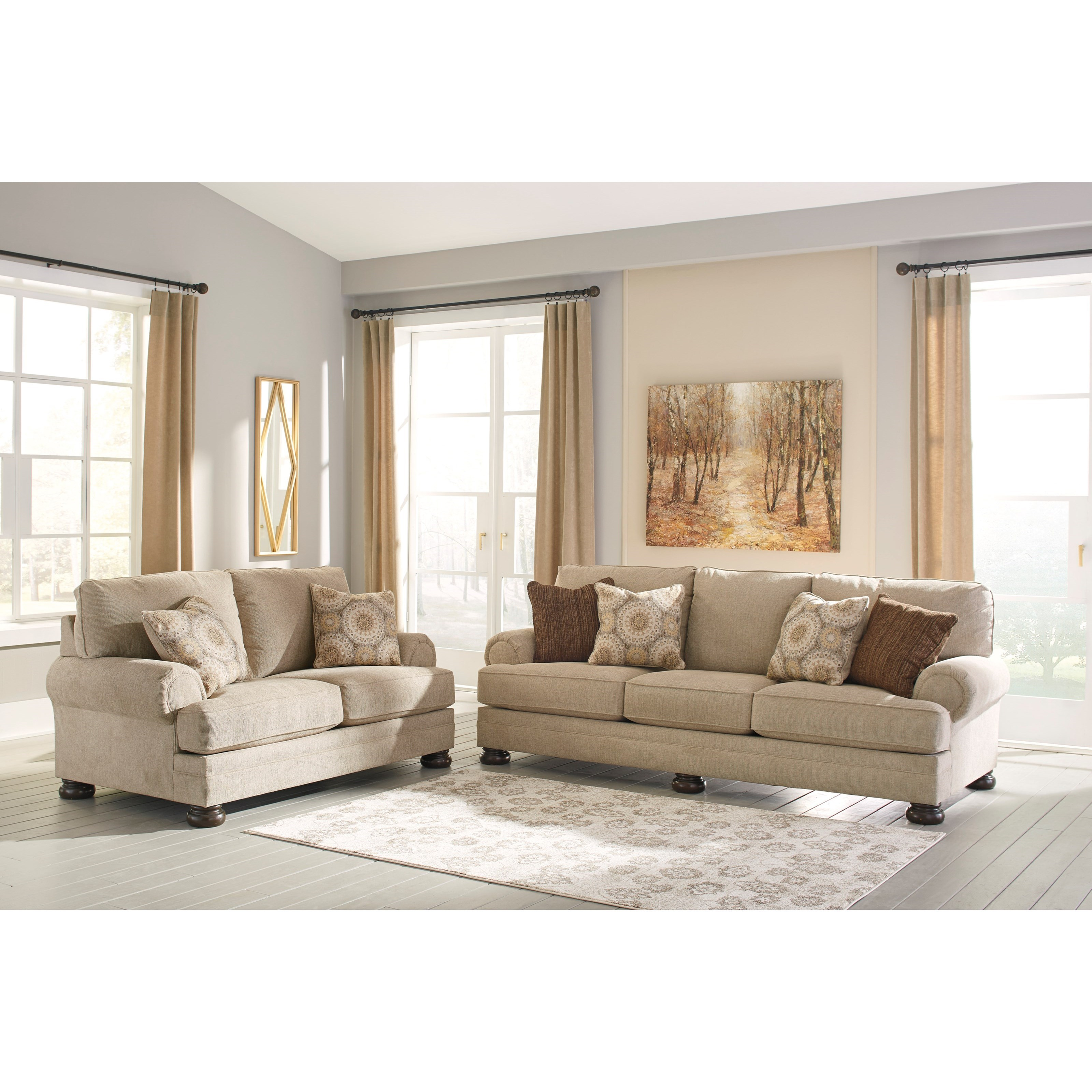 Benchcraft Quarry Hill Stationary Living Room Group - Item Number: 38701 Living Room Group 1