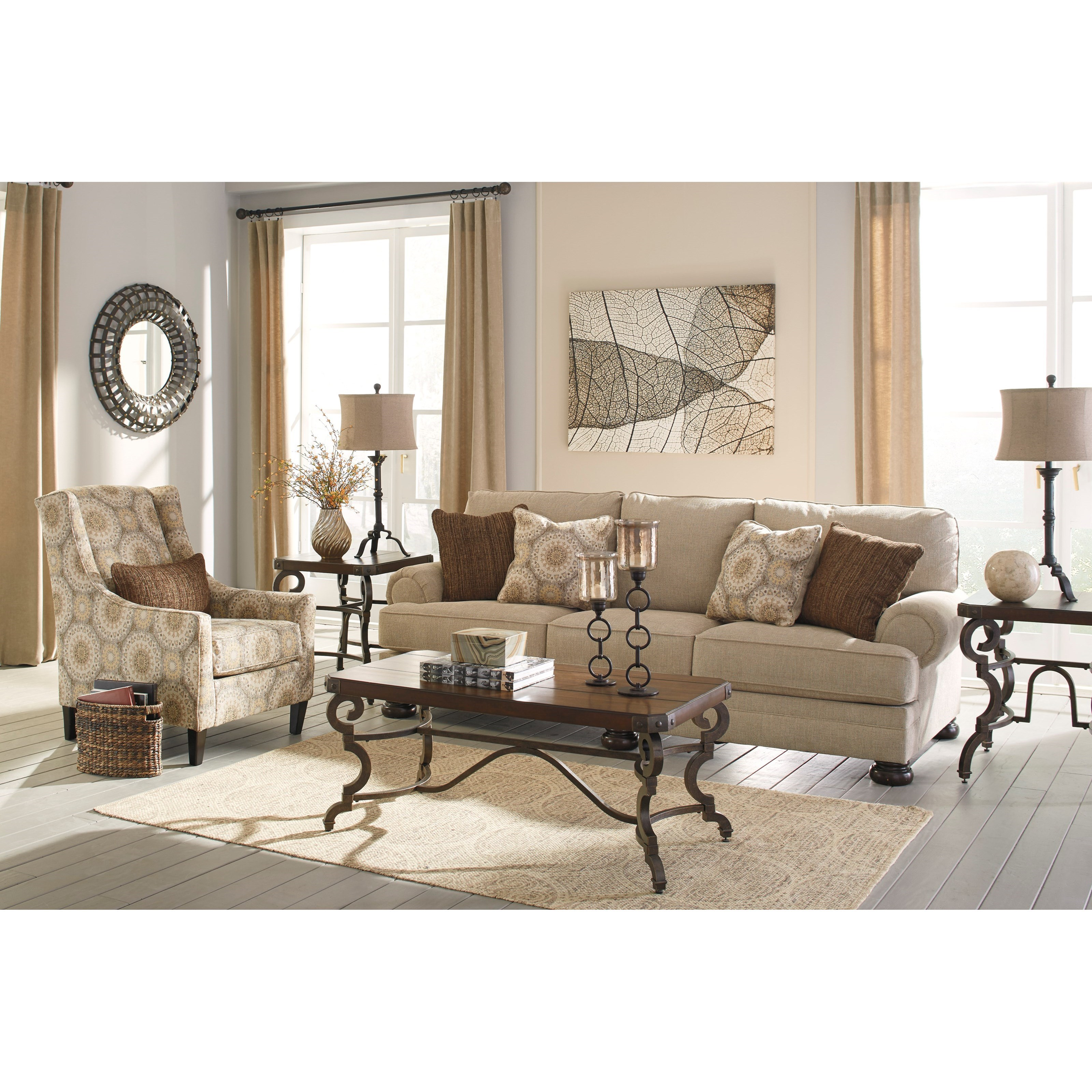 Benchcraft Quarry Hill Stationary Living Room Group - Item Number: 38701 Living Room Group 2