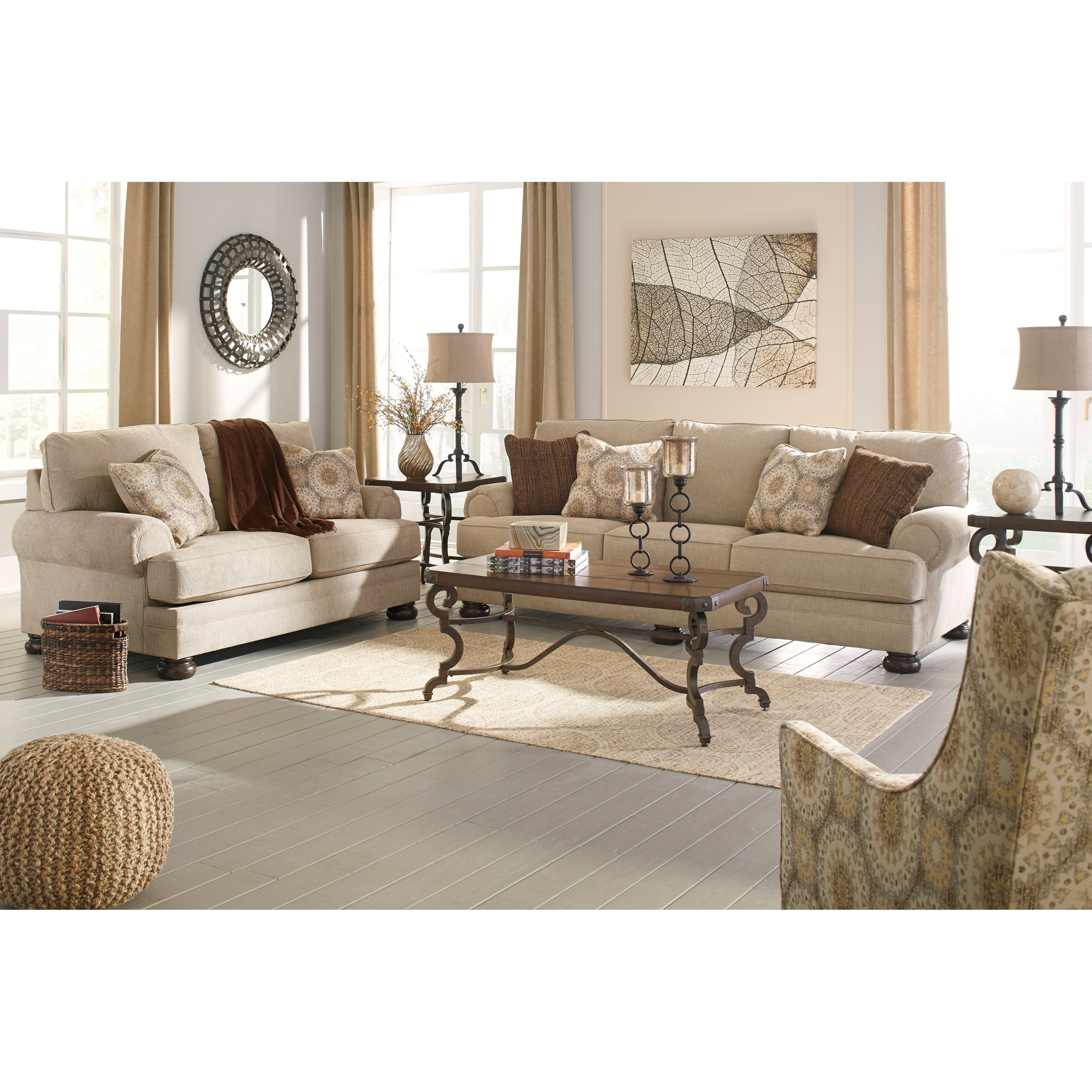 Benchcraft Quarry Hill Stationary Living Room Group - Item Number: 38701 Living Room Group 3