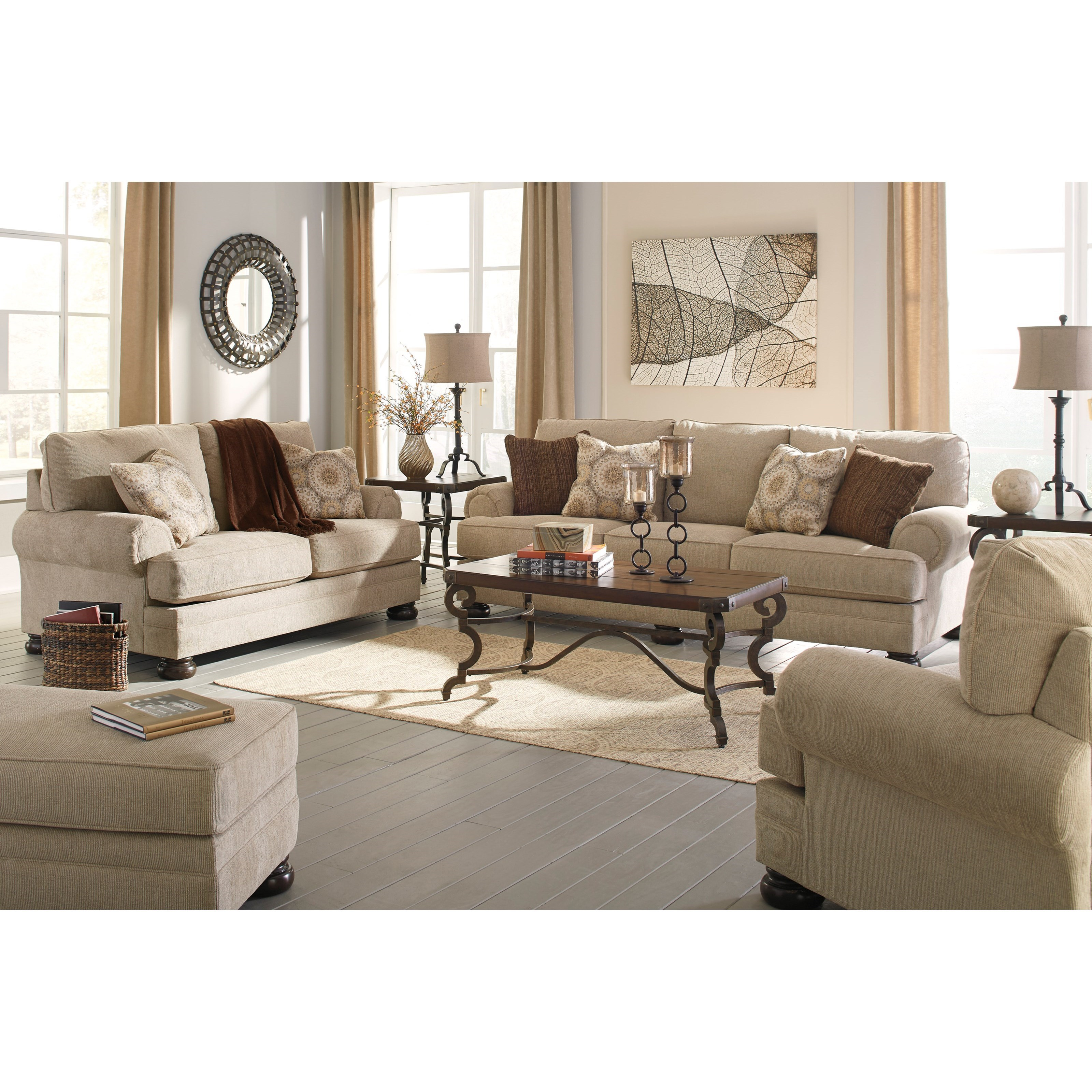 Benchcraft Quarry Hill Stationary Living Room Group - Item Number: 38701 Living Room Group 4