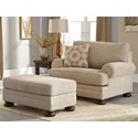 Ashley Quarry Hill Chair and a Half & Ottoman - Item Number: 3870123+14