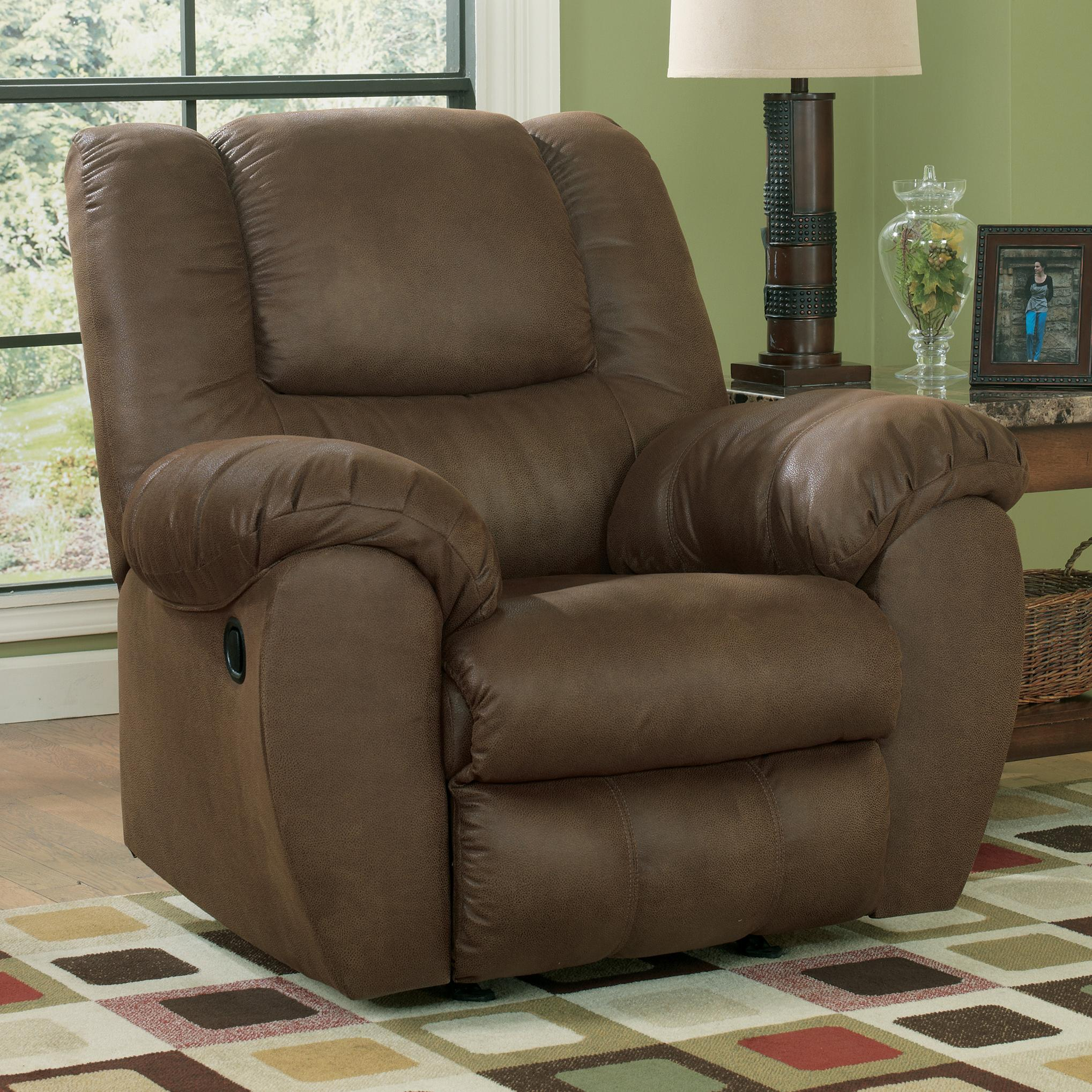 Benchcraft Quarterback - Canyon Rocker Recliner - Item Number: 3270125