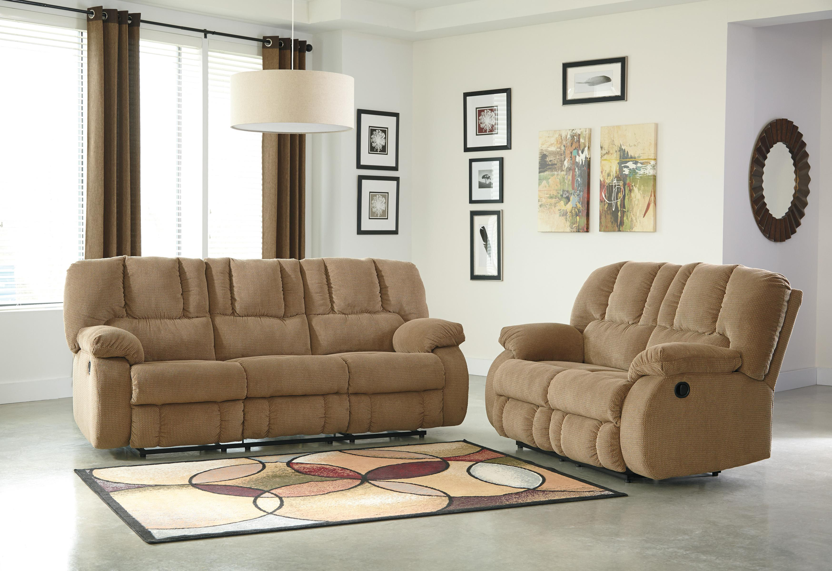 Benchcraft Roan Reclining Living Room Group - Item Number: 38602 Living Room Group 1