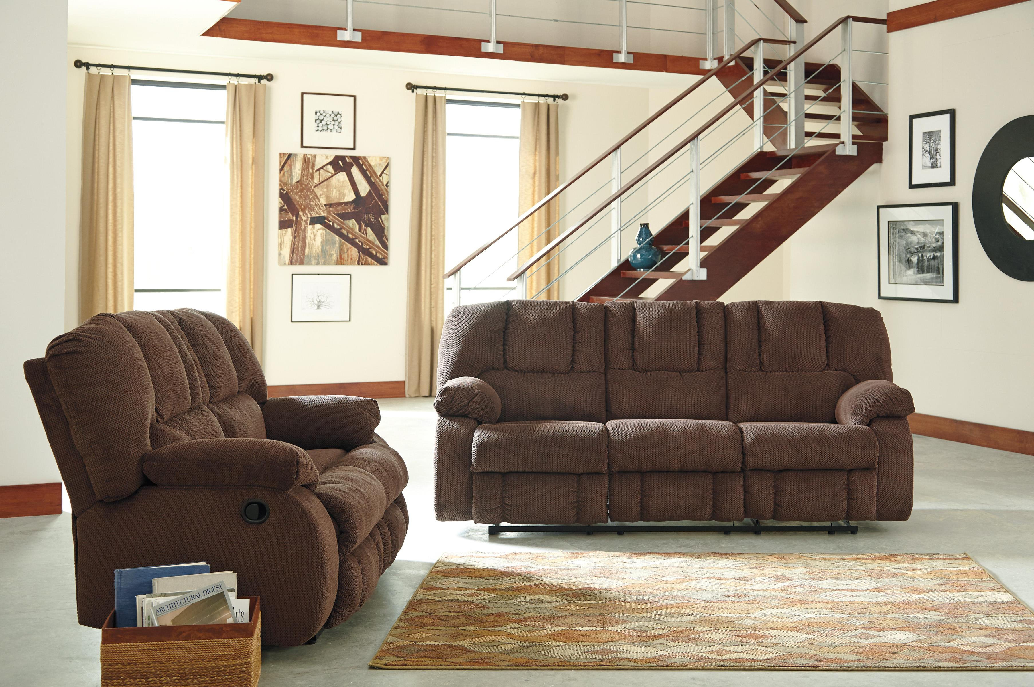 Benchcraft Roan Reclining Living Room Group - Item Number: 38604 Living Room Group 1