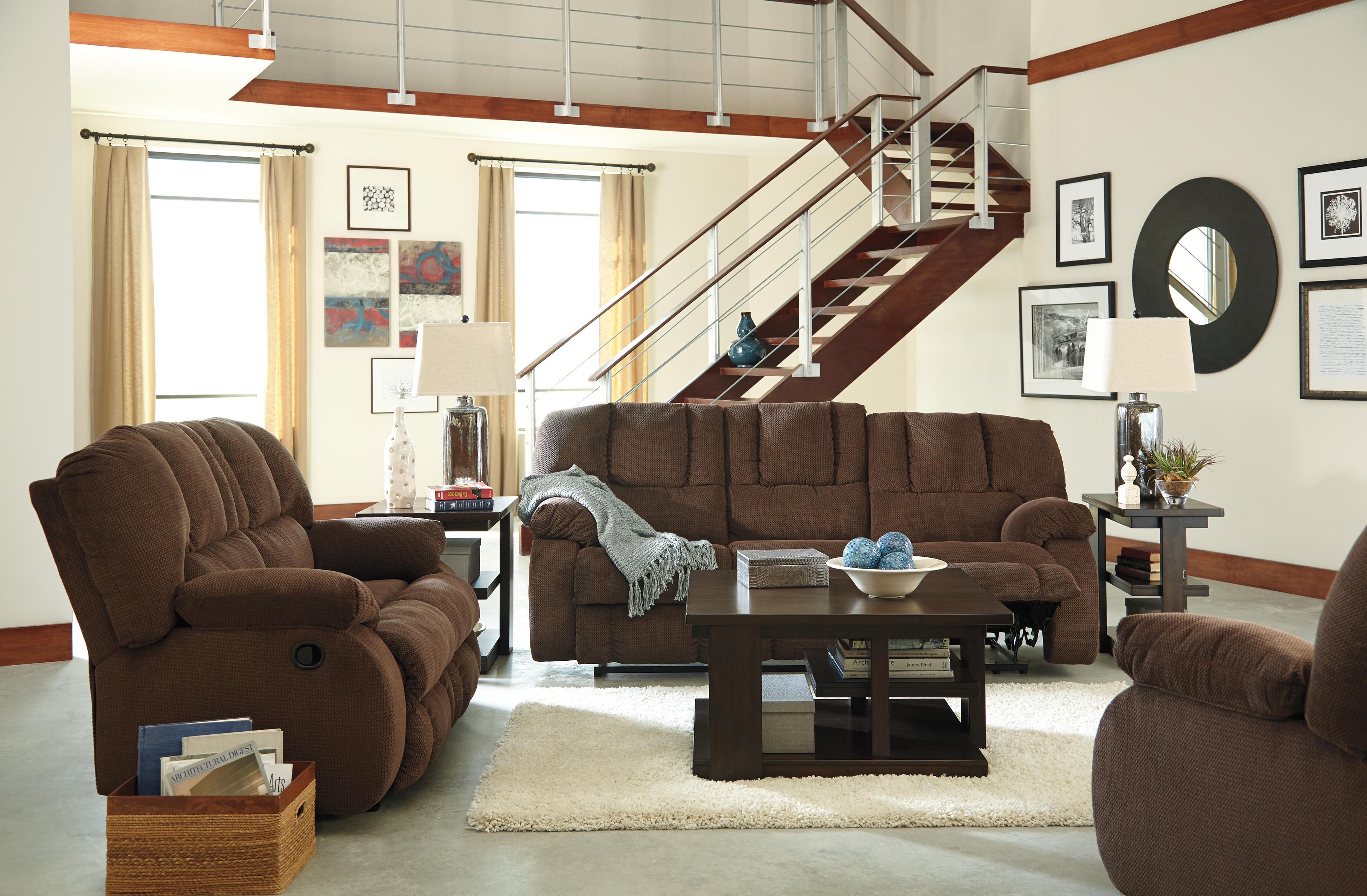 Benchcraft Roan Reclining Living Room Group - Item Number: 38604 Living Room Group 2