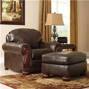 Benchcraft Rodlann DuraBlend® Chair & Ottoman