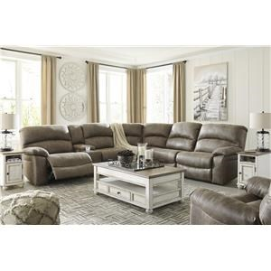 Power Sectional With Recliner
