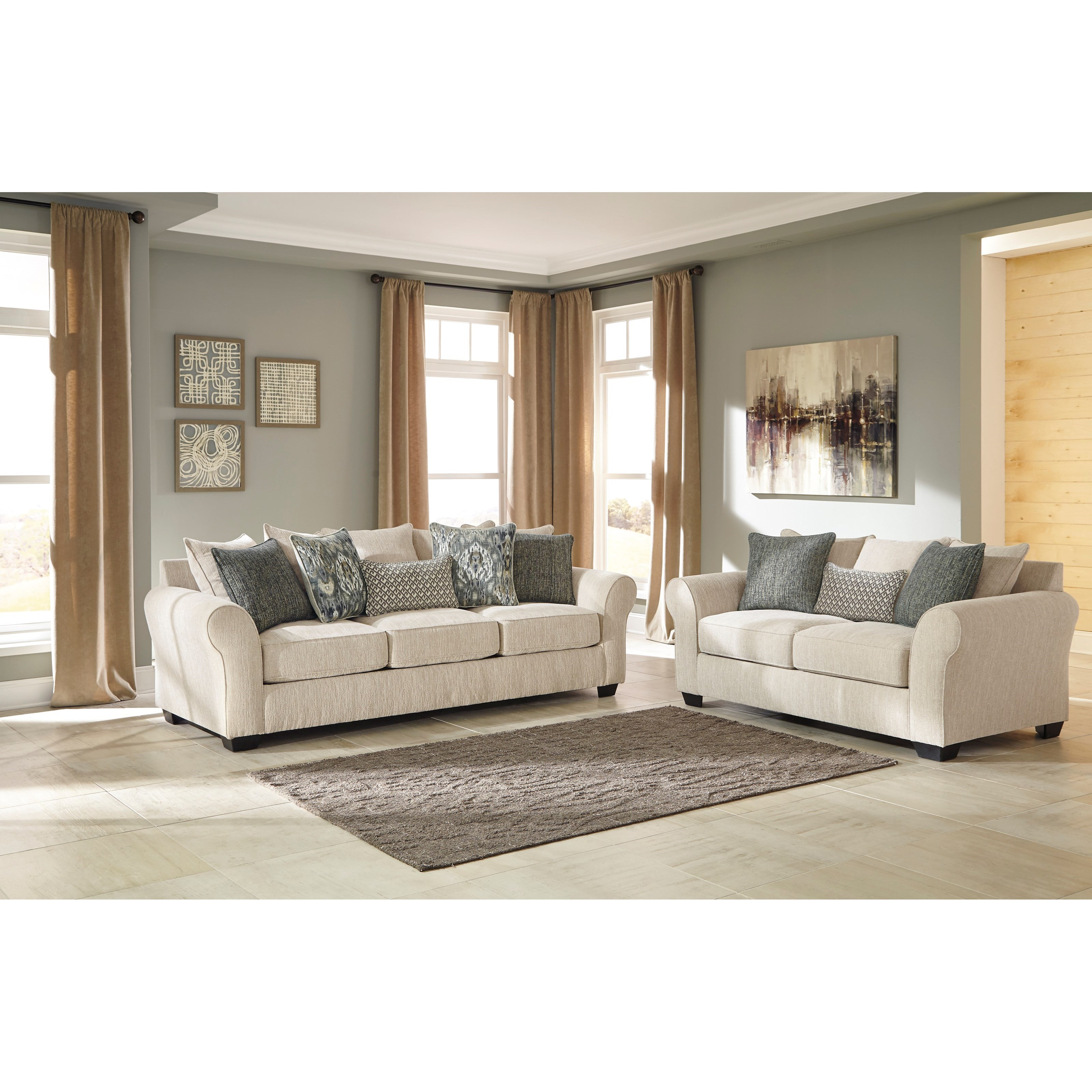 Benchcraft Silsbee Stationary Living Room Group - Item Number: 55402 Living Room Group 1