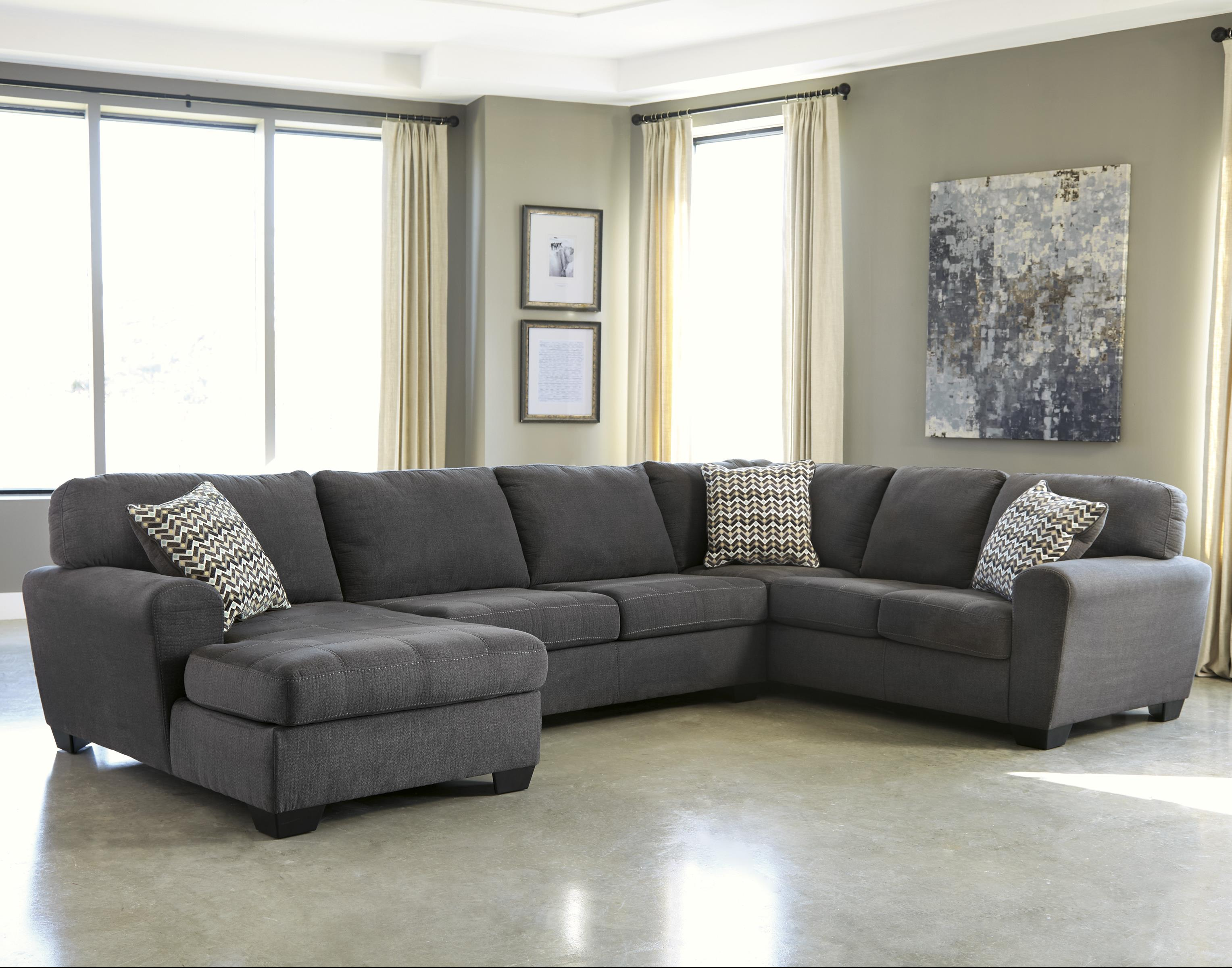 Benchcraft sorenton contemporary 3 piece sectional with for Furniture 3 rooms for 1999