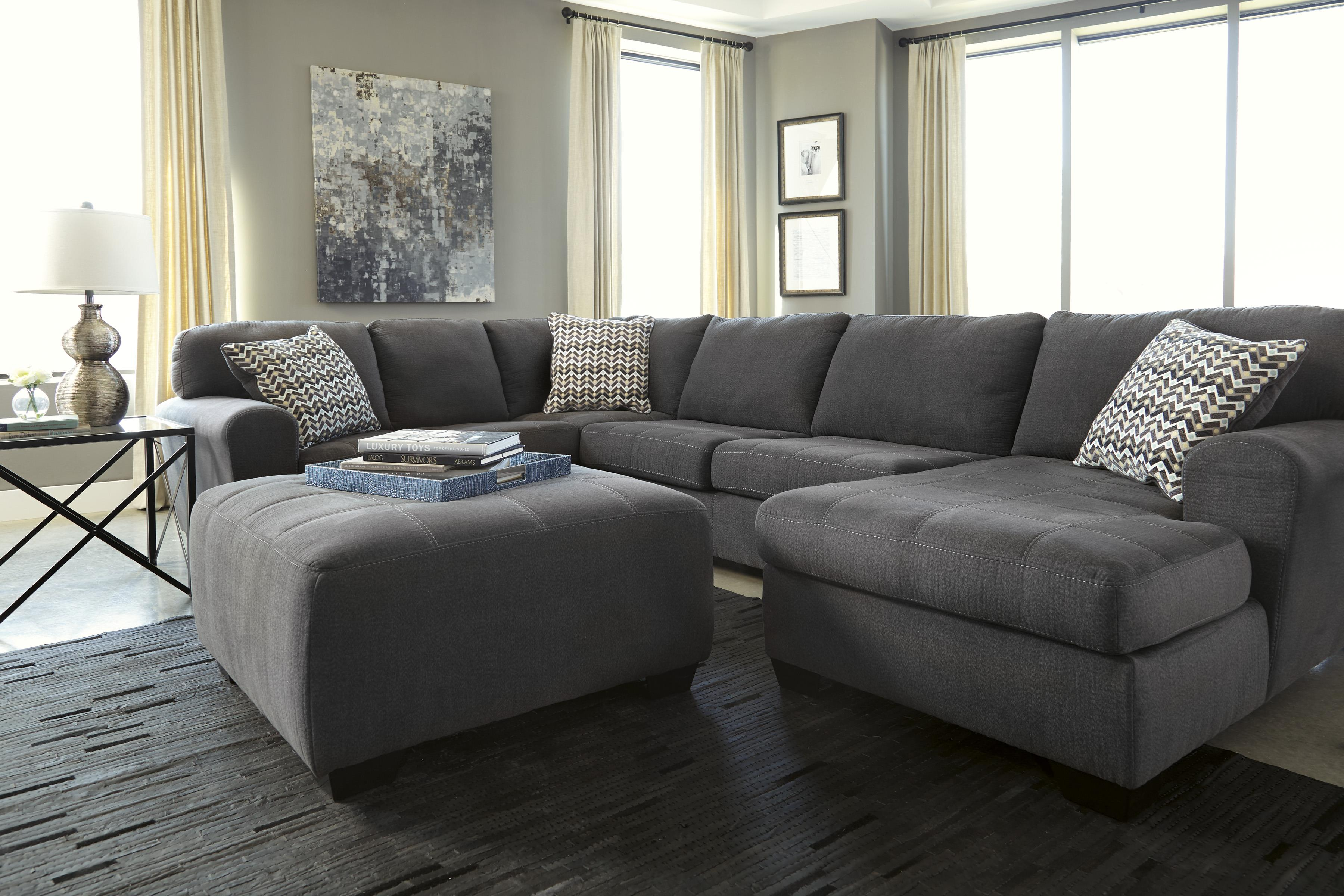 Benchcraft sorenton contemporary 3 piece sectional with for 3 piece sectional sofa with chaise