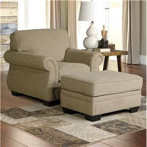 Ashley Tailya Chair & Ottoman