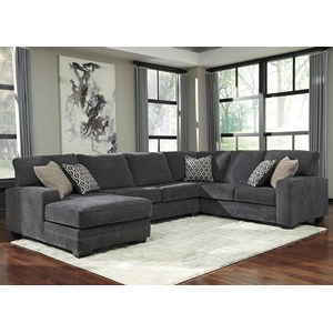 Ashley Tracling Sectional with Left Chaise